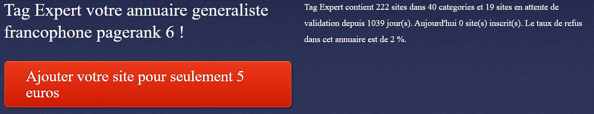 Ancien design de tagExpert.be